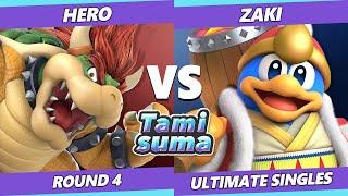 TAMISUMA 174 SSBU - Hero (Bowser) Vs. ZAKI (Dedede) Smash Ultimate Round 4