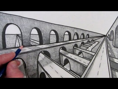 How To Draw A Bridge In Perspective Fast Youtube