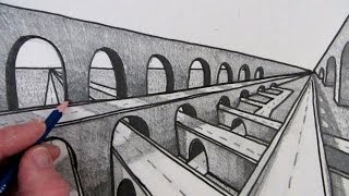 How to Draw a Bridge in Perspective: Fast