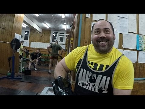 Andrey Malanichev, light deadlift workout (Dec 30, 2016) MAI GYM , Moscow