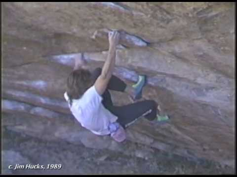 John Sherman at Hueco Tanks 1989