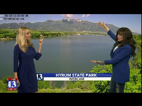Marie Osmond gives impromptu weather forecast