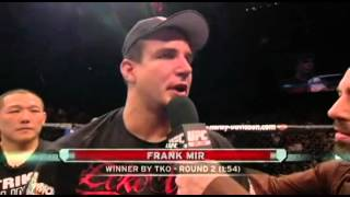UFC 92 Post-Fight Frank Mir Interview