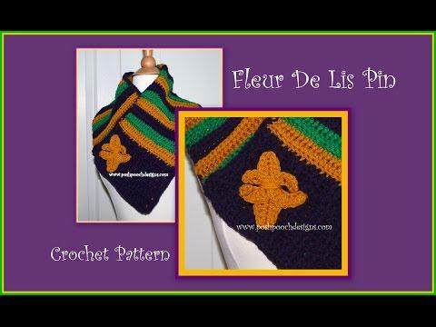 Fleur De Lis Pin Crochet Pattern