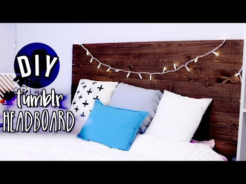 DIY Tumblr Rustic Wood Headboard (Room Decor) | JENerationDIY