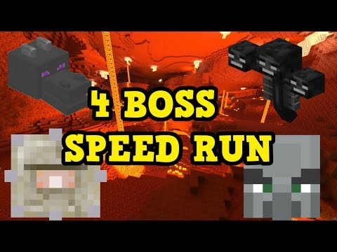 Minecraft Xbox One / PS4 - ALL 4 BOSS SPEED RUN