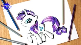 How to draw my little pony, - Como dibujar a Rarity 4 - how to draw rarity
