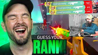 Can Hiko GUESS YOUR RANK? | MAN CLIMBS TO RADIANT W/ STEERING WHEEL?!