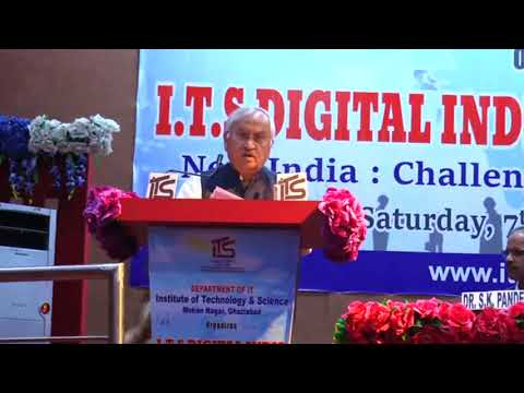 Air Marshal PK Roy addressing the gathering in I.T.S Digital Conclave-2017