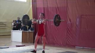 Ксенофонтов Матвей, 14 лет,с в  46 Толчок 62 кг 1 подход