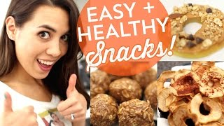 My 3 Favorite Healthy Snack Recipes!
