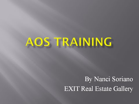 AOS BASICS & HOW TO MAKE A SHOWING APPOINTMENT