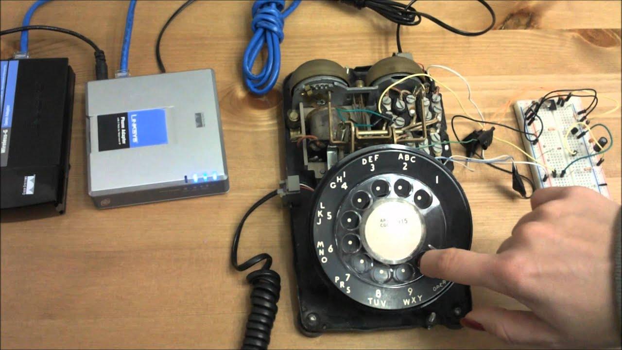 rotary dial telephone wiring diagram 2002 hyundai elantra engine phone pulse to tone dtmf converter youtube