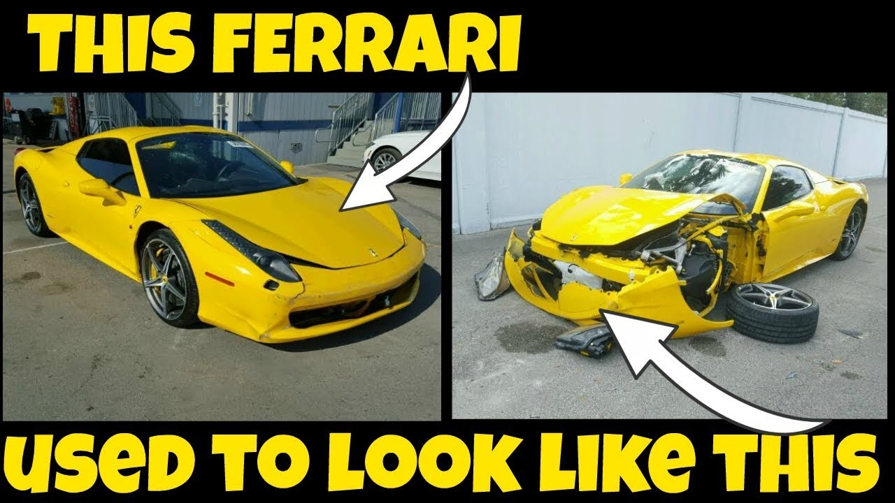 5 Cars Hiding Damage At The Salvage Auction Featuring Ferrari 458