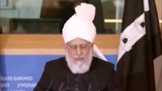 Le Calife de L'islam prononce un discours historique au Parlement européen.