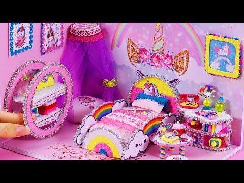 DIY Miniature Dollhouse ~ Unicorn Room Decor #65