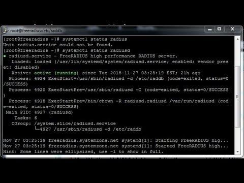 FreeRADIUS Installation and Basic Configuration on CentOS 7 - System