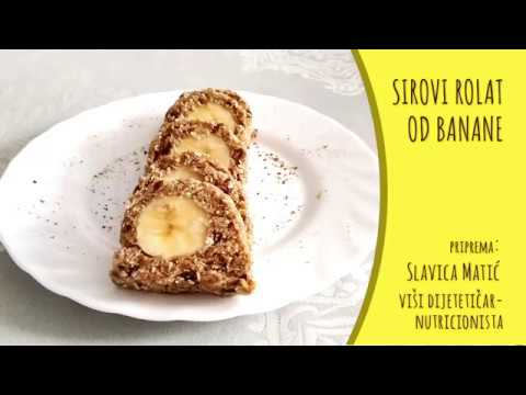 Sirovi rolat od banane - video recept
