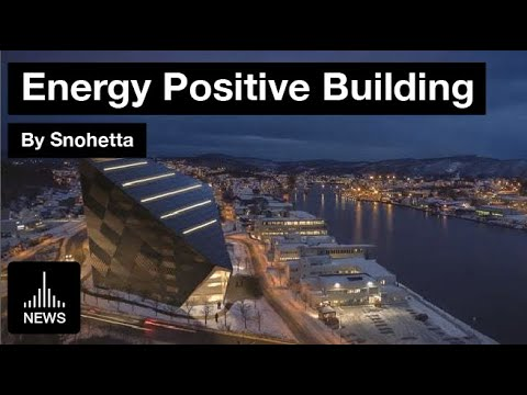World's Northernmost Energy Positive Building in Norway by Snøhetta