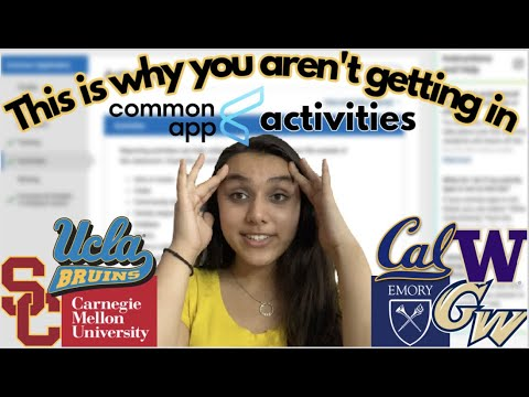 Explaining my COMMON APP ACTIVITIES + COLLEGE APPLICATION SPIKE that got me into UCLA, Cal, and USC!