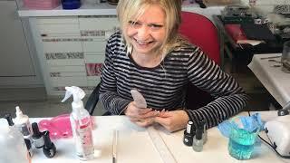 Наращивание ногтей гелем на бумажные формы ч.1 для начинающих