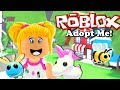Baby Goldie Adopts the Legendary Queen Bee & Unicorn - Roblox Adopt Me