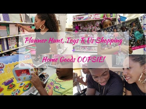 Notebook Hunt& Nevaeh Broke a $50 HomeGoods Lamp!| Fam vlog #12