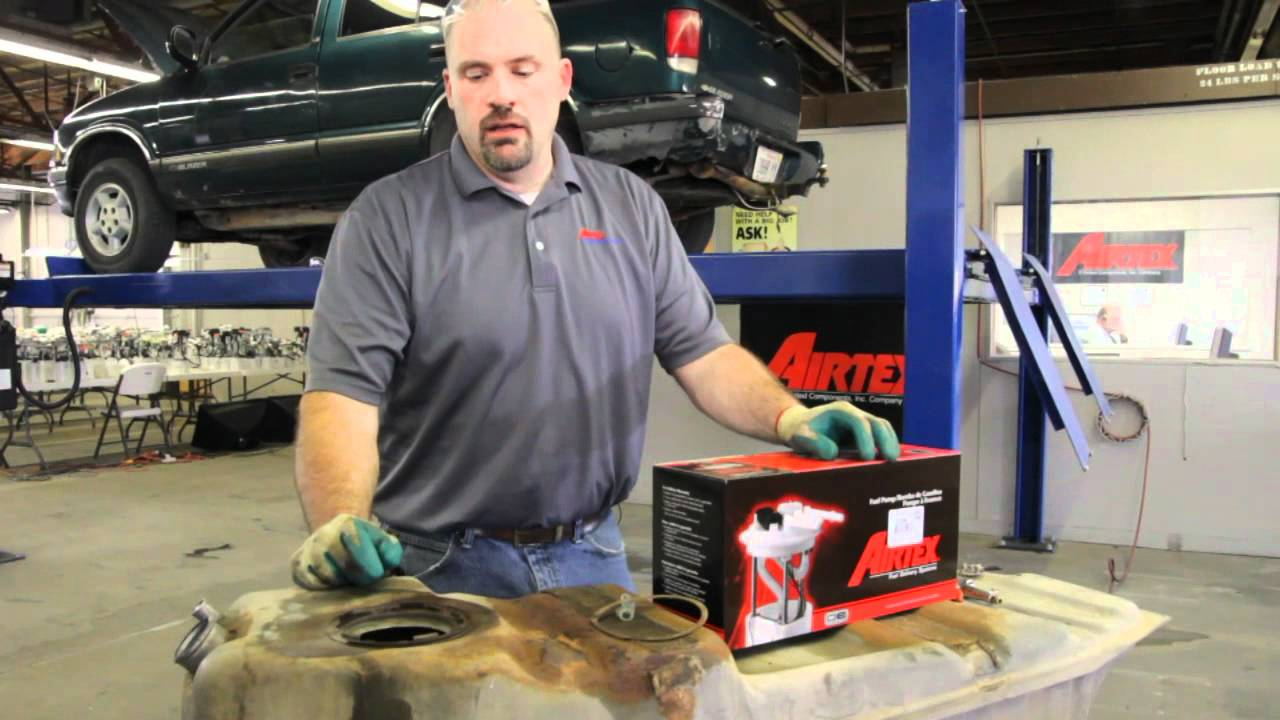 how to install fuel pump e3953m in 1997 1998 chevrolet s10 blazer rh youtube com