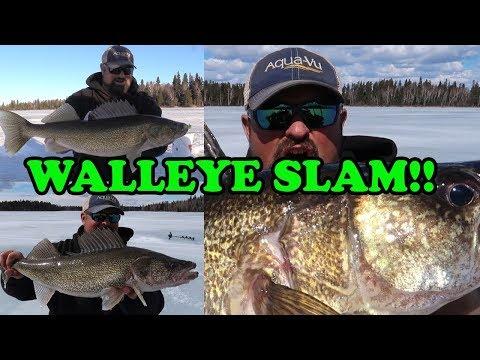 Slamming Walleye In Northern Manitoba!!! (Last Ice Trip Of The Year)