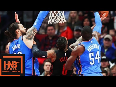 Oklahoma City Thunder vs Portland Trail Blazers Full Game Highlights / March 3 / 2017-18 NBA Season
