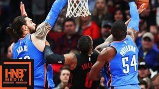 Oklahoma City Thunder vs Portland Trail Blazers Full Game Highlights / March 3 / 2017-18 NBA Season