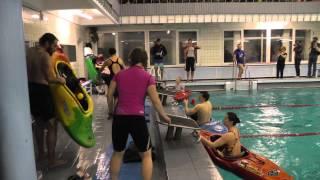 Каяк-кафель-шоу 2014: веселые старты и конкурсы каякеров в бассейне