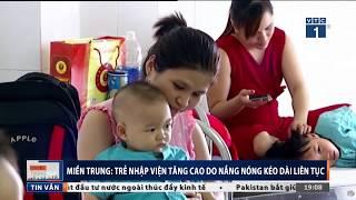 Nắng nóng làm trẻ nhập viện tăng cao