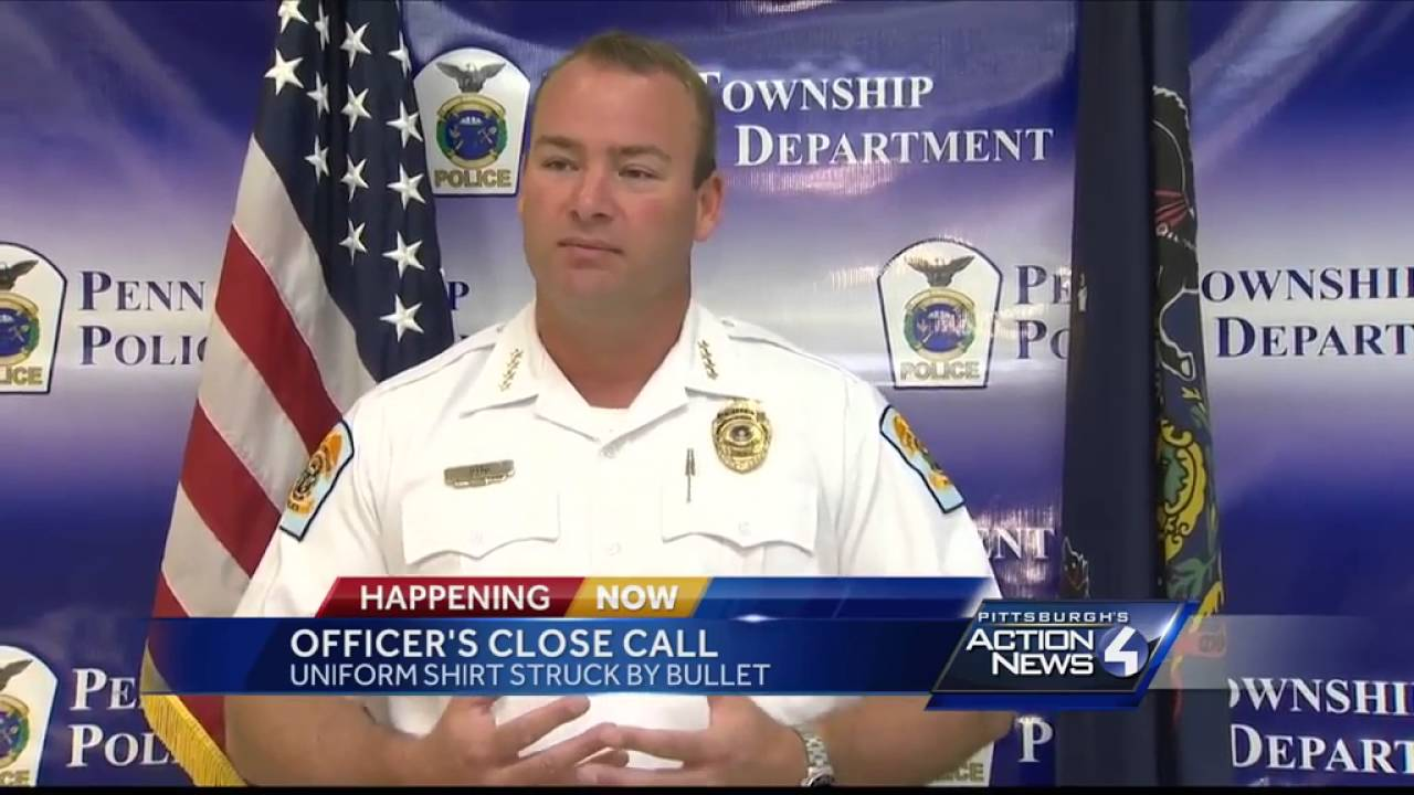 Bullet pierces Penn Township police officer's uniform during domestic call