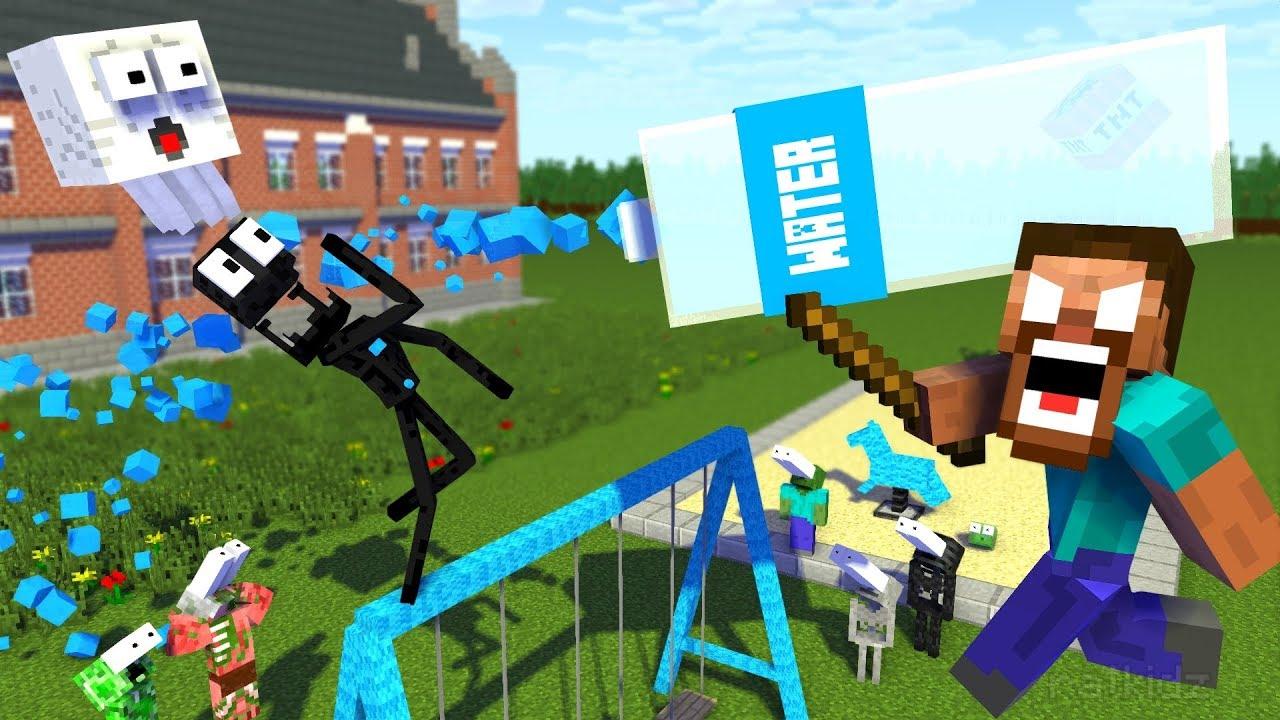Download Monster School : BOTTLE FLIP Challenge APOCALYPSE - Minecraft Animation