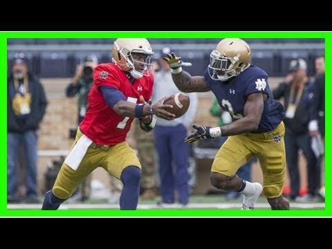 Wimbush's mechanics, Notre Dame's receivers shine in Blue-Gold Game