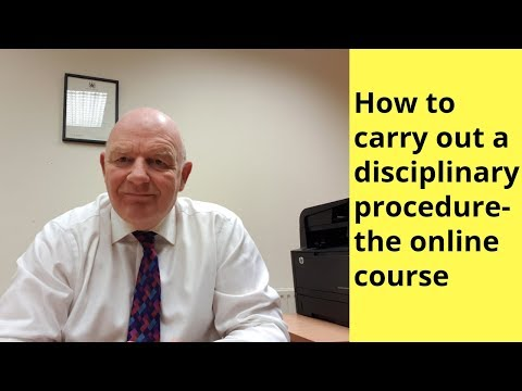 How to Carry Out a Disciplinary Procedure in the Irish Workplace-the Online Course