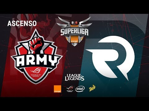 DESCENSO LOL Asus Rog Army vs Origen Esp Club - Mapa 1 - #DESCENSOLOL