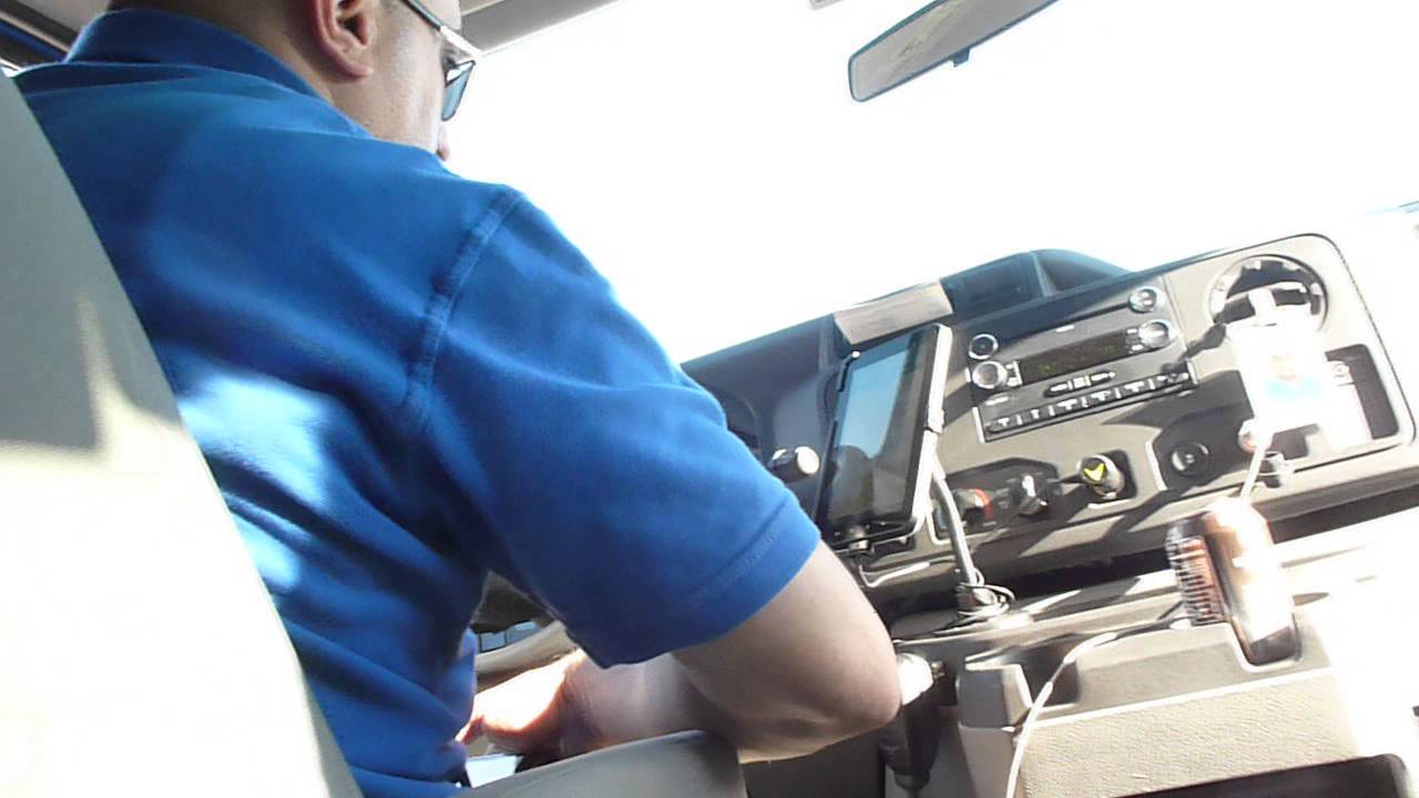 Texting SuperShuttle Driver