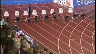Usain Bolt Asafa Powell 100m Golden League Brussels 2008