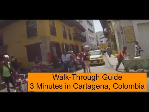Walk-through Guide: 3 minutes in Cartagena, Colombia
