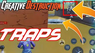 How To Create Traps In Creative Destruction | Traps In CD || Jump Trap and many traps [ Must Watch ]