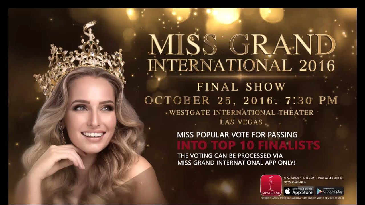 Download Miss Grand International 2016 - Final Show in Las Vegas USA