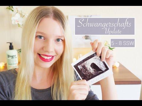 Schwanger | 5-8 SSW | Erster Ultraschall | Herzchen schlägt | Beschwerden