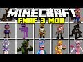 Minecraft FIVE NIGHTS AT FREDDY'S 3 MOD! | MANGLE, PURPLE GUY, FREDDY, & MORE!! | Modded Mini-Game