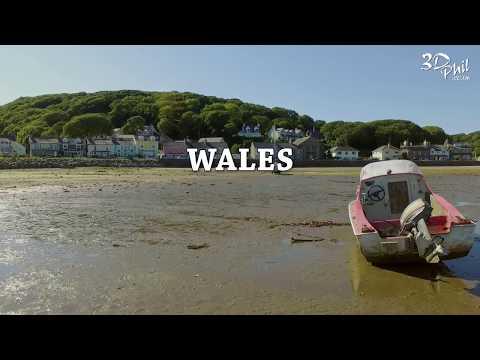 Drone film featuring Borth y Gest in North Wales