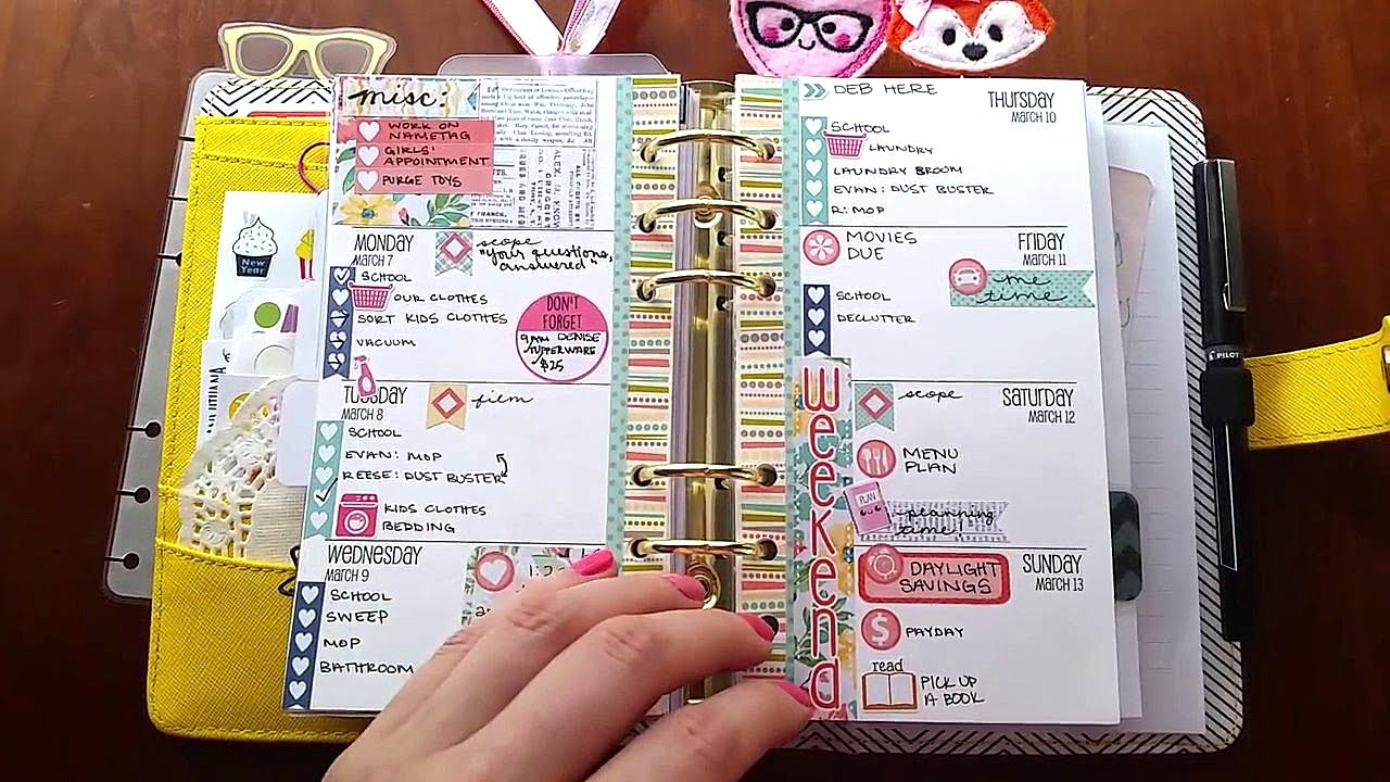 Where To Write Things in a Planner KikkiK Filofax