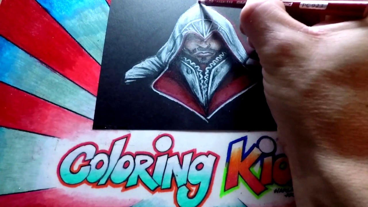 How To Color Assassins Creed Coloring Pages For Kids Learn Withezio