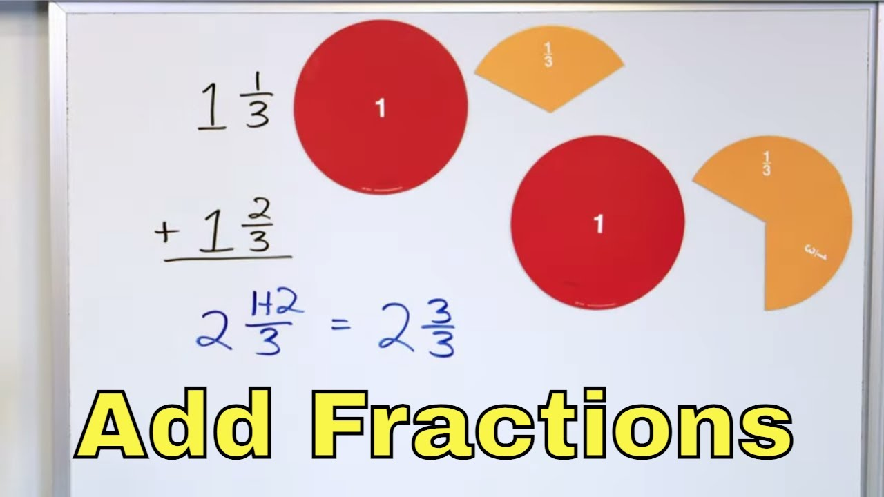 Adding Fraction & Mixed Numbers w/ Common Denominators – Part 1 – [23]