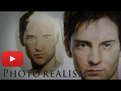 "PHOTOREALISTIC Painting ""TOBEY MAGUIRE"" Actor – TRIS artist"